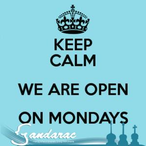 29 - open Mondays