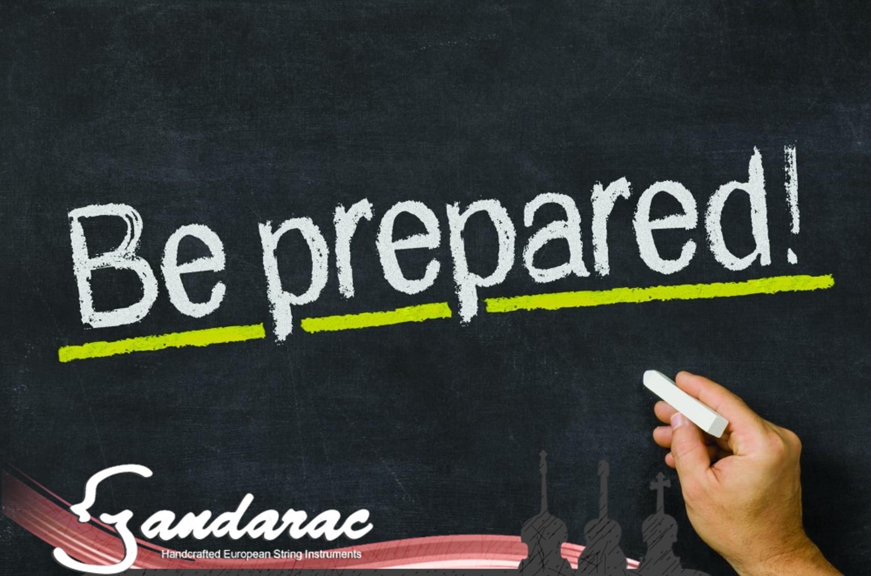 30 - be prepared