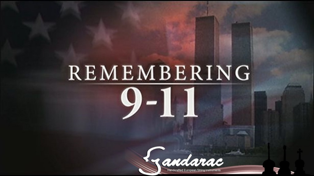 Remembering 9/11. Twin towers. American flag