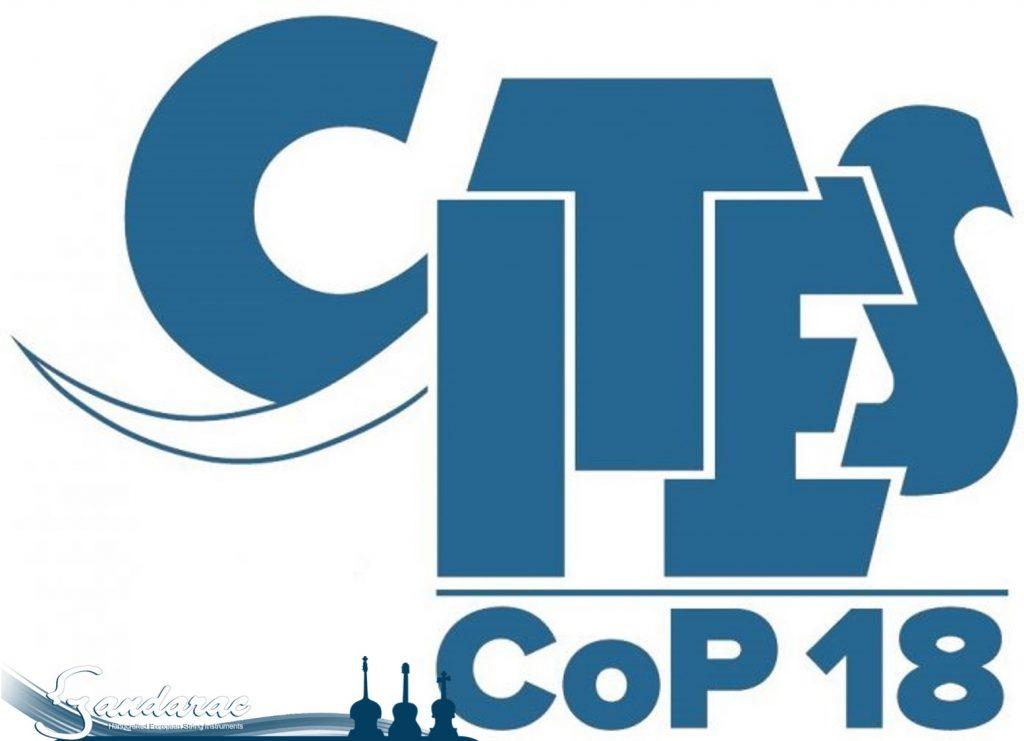 CITES CoP18 logo in blue