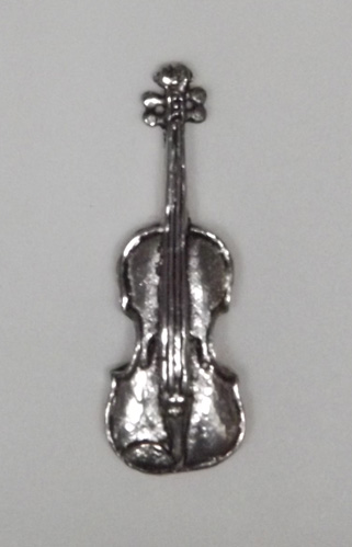 Violin Hand Crafted English Pewter Pin