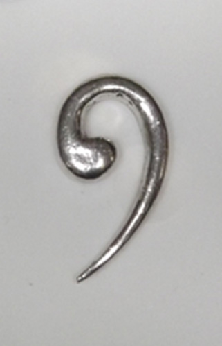 Bass Clef Hand Crafted English Pewter Pin