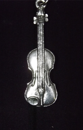 Violin English Pewter Key Ring