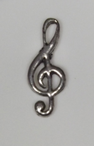 Treble Clef Hand Crafted English Pewter Pin