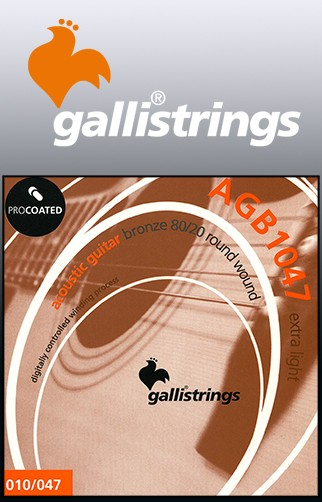 AGB1047 Procoated 8020 Bronze Acoustic Guitar Strings