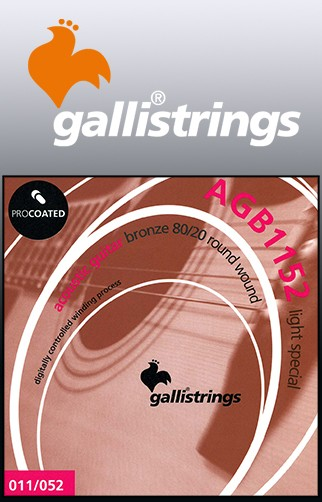 AGB1152 Procoated 8020 Bronze Acoustic Guitar Strings