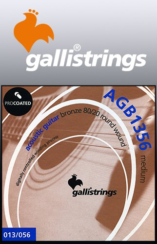 AGB1356 Procoated 8020 Bronze Acoustic Guitar Strings