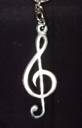 Treble Clef English Pewter Key Ring