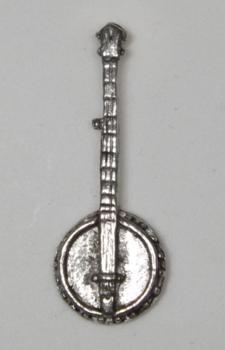Banjo Hand Crafted English Pewter Pin