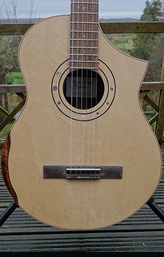 Alan Miller Cutaway Classical Guitar with on-Board Electronics