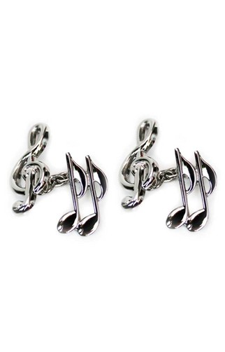 Clef and Quaver Chain Cufflinks