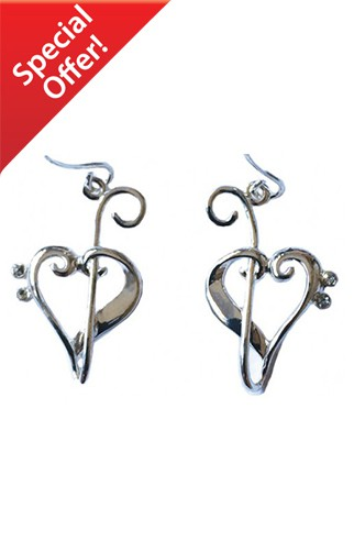 Heart of Clefs Earrings
