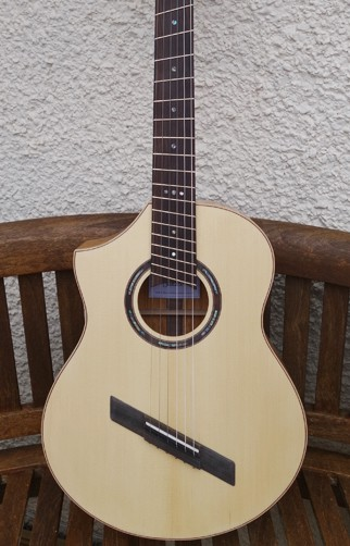Alan Miller Left Handed Fan Fret Classical Guitar