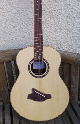 Alan Miller Left Handed Fan Fret Grand Concert Guitar