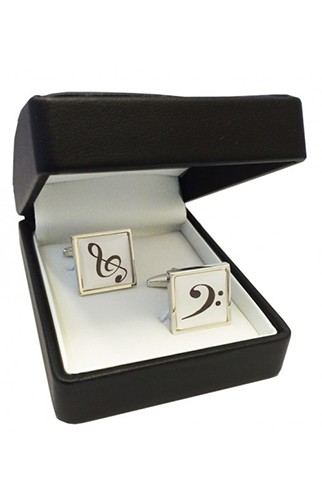 Treble and Bass Clefs Cufflinks